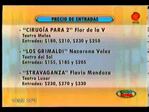 precios de entradas en teatros de Carlos Paz 02012012