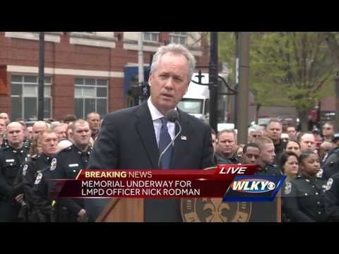 COMPLETE VIDEO: Memorial for Officer Nick Rodman