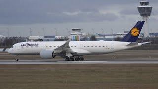 [4K] Lufthansa A350-900 D-AIXA Take Off and Landing at Munich Airport