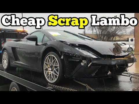 I Bought a Lamborghini that CRASHED INTO A GUARD RAIL at Salvage Auction! I'm Going to Rebuild It!
