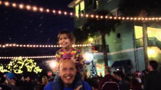 Celebration Town Center First Snowfall of the Season - 11/30/2013