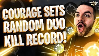 "COURAGE SETS RANDOM DUO KILL RECORD?! PLAYING WITH THE ""HACKER"" (Fortnite: Battle Royale)"