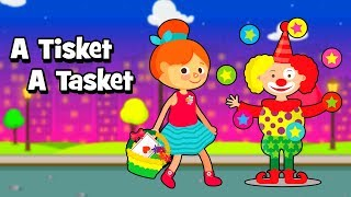 A Tisket A Tasket Nursery Rhyme | Popular Nursery Rhymes and kids songs for children