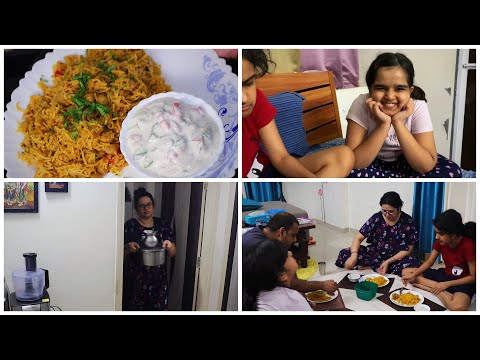 indian-mom-with-kids-busy-evening-to-night-routine-|-one-pot-meal-recipe-|-chhole-/-chana-pulao