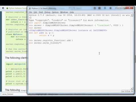 Python [XML-RPC] 03 Simple Server