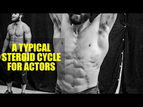 A typical steroid cycle for actors