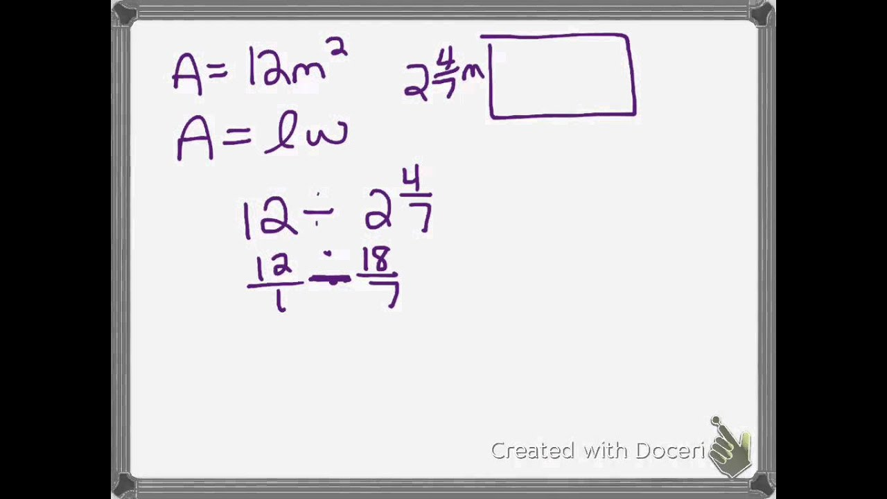 6 Fraction Worksheet Area Of A Rectangle