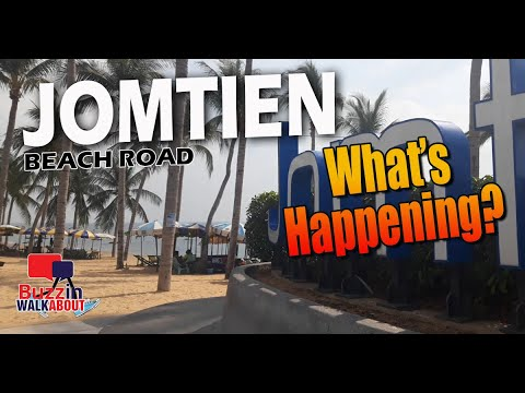 Jomtien Beach Road Pattaya - See what is happening here right now? November 2020 Part One