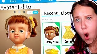 MAKING GABBY GABBY FROM TOY STORY 4 A ROBLOX ACCOUNT!!