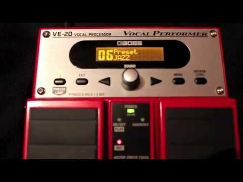 BOSS VE-20 effetti per voce e loop station - YouTube.flv