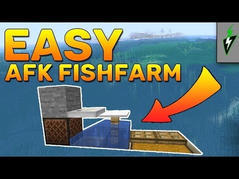Minecraft 1.14 - How to Build an AFK Fish Farm - Minecraft Tutorial