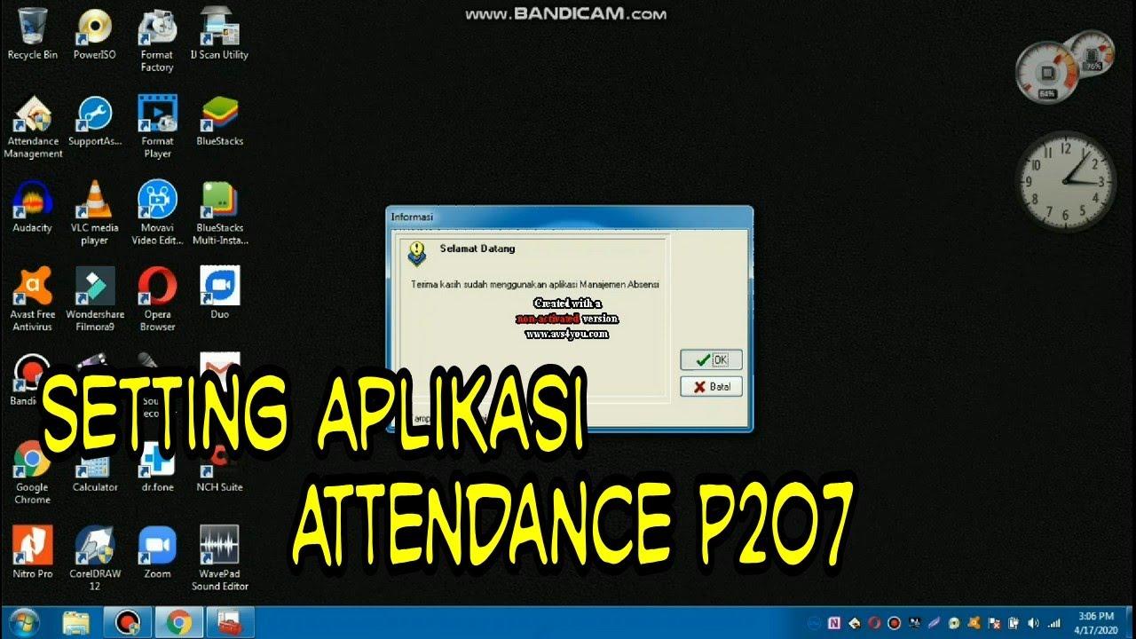 Download Cara Setting Aplikasi Attendance Solution P207
