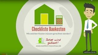 Massivhaus bauen - Checkliste Baukosten