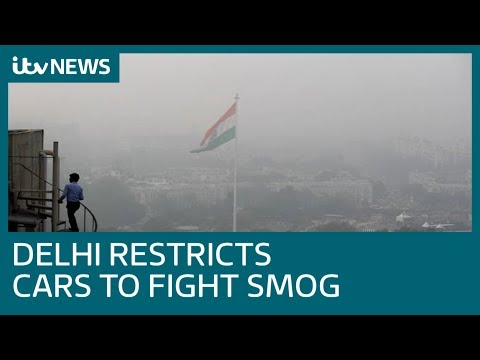 New Delhi restricts car use as city struggles against toxic air pollution crisis | ITV News