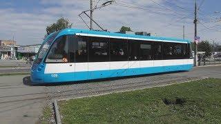"""FHD. Новый трамвай T4UA """"VinWay"""" №109. Западный автовокзал. Маршрут №2. Винница"""