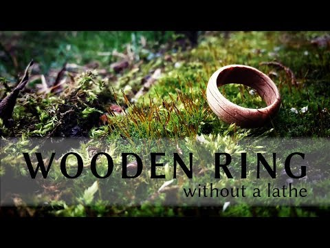 How to make a wooden ring without a lathe | DIY oak ring with limited tools