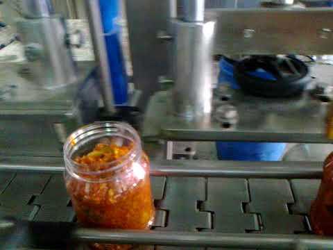 Pickles filling machine bottling line