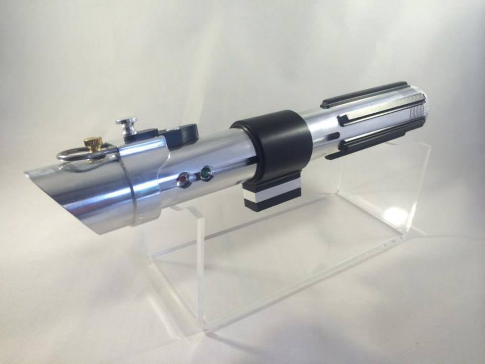 Anakin Skywalker Attack Of The Clones Custom Fx Lightsaber Nano Biscotte V2 0 Youtube