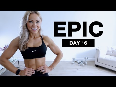 Day 16 of EPIC | 40 Min Dumbbell Back and Bicep Workout at Home