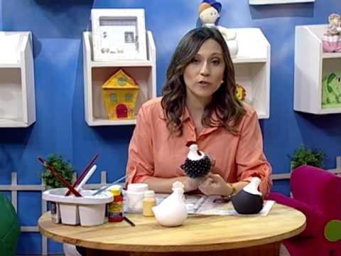 Pintura en cer mica gallina de angola youtube for Como pintar jarrones de ceramica