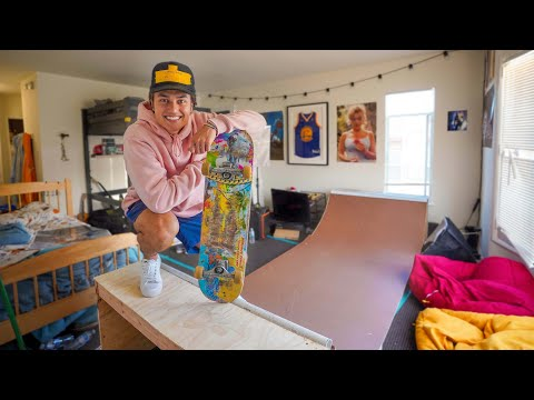 BUILDING A MINI RAMP IN MY TINY APARTMENT