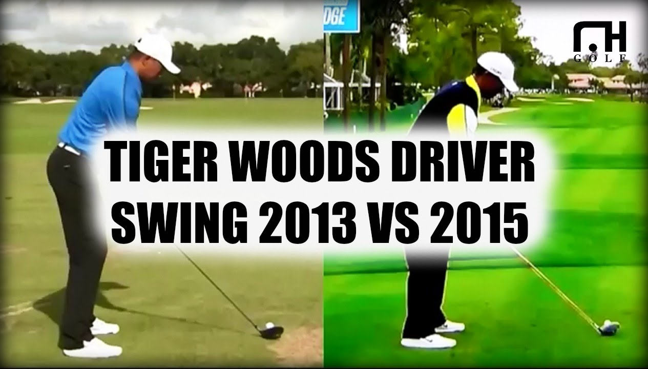 Tiger Woods Driver Swing 2013 Vs 2015 Youtube