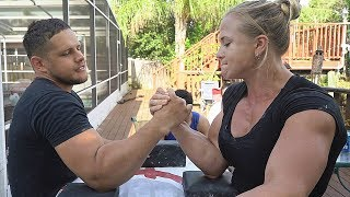 ARM WRESTLING VS STRONGEST WOMAN IN USA | TRAINING 2020