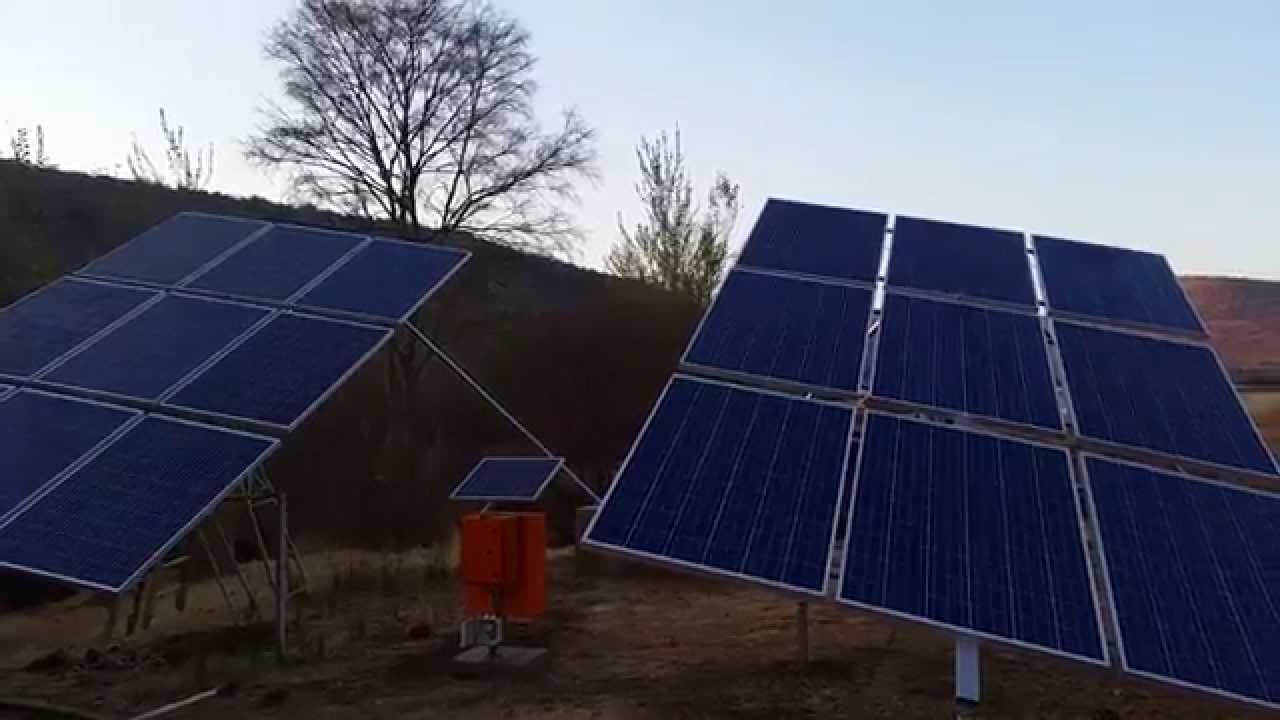DIY single axis solar tracker - YouTube