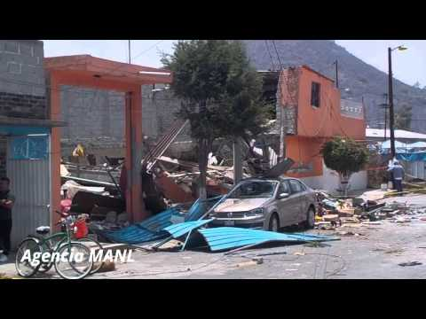 Explosión de tanque de gas en Ecatepec; continúan los daños