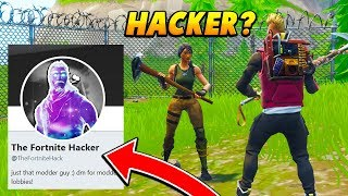 So I PRETENDED being a Fortnite HACKER on TWITTER... (Fortnite Battle Royale)