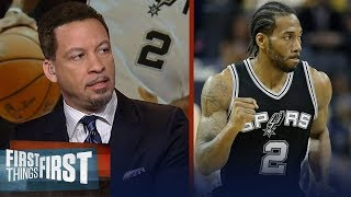 Chris Broussard on reports Celtics are willing to trade Kyrie for Kawhi | NBA | FIRST THINGS FIRST