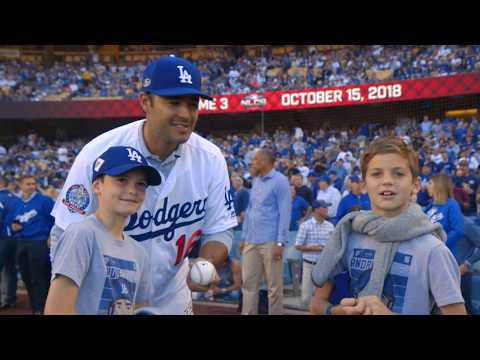 Backstage Dodgers: Andre Ethier Ceremonial First Pitch