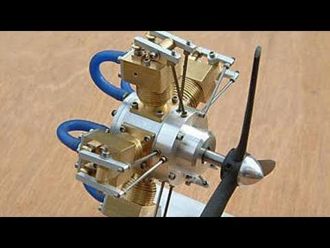 Halo Liney 5 Cylinder Radial Working Live Steam Model Engine - YouTube