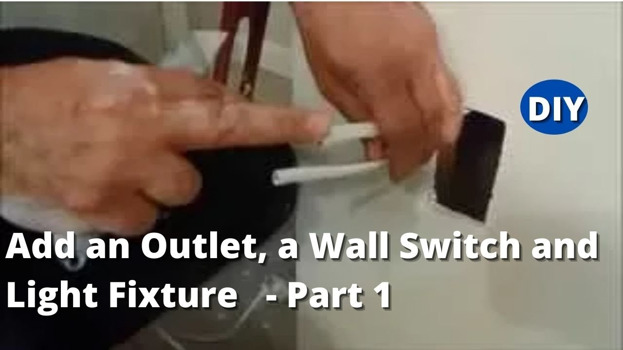 light switch outlet wiring diagram origami tiger how to add an a wall and fixture existing part 1 youtube