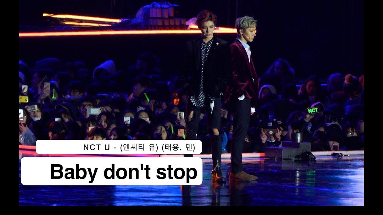 Download NCT U - (앤씨티 유)(태용, 텐) Baby don't stop [4K 직캠]@180224 락뮤직