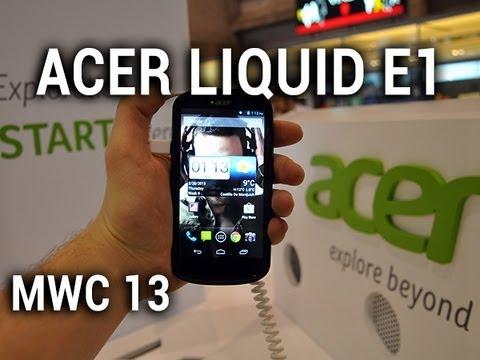 Acer Liquid E1, prise en main au MWC 2013 - par Test-Mobile.fr