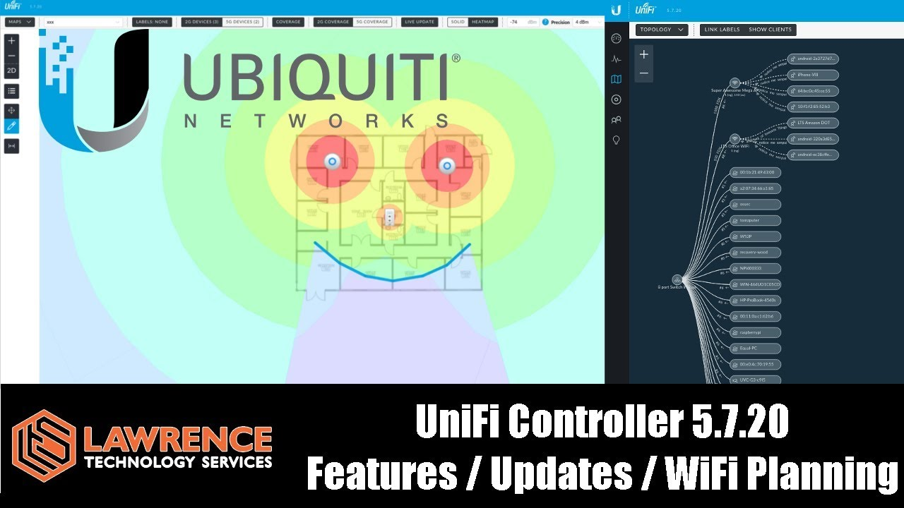 UniFi Controller 5 7 20 Features / Updates / WiFi Planning and showing of  the Heat-map functions