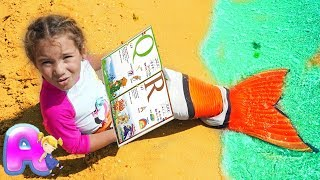 Marmaid Anna learn leters ABC and plays at sea by Anna Kids