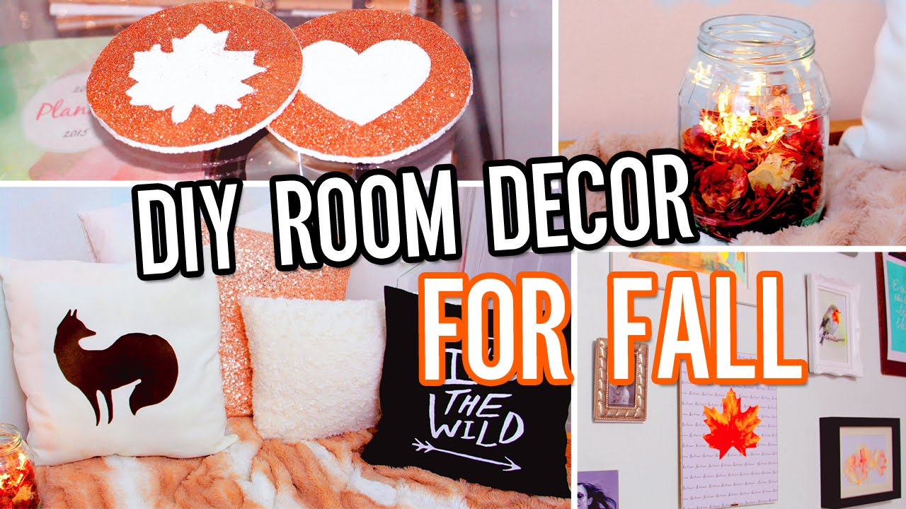 Diy Room Decor For Fall Make Your Room Cozy No Sew Pillow Tumblr Decorations Amp More Youtube