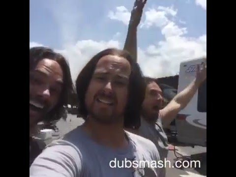 Sebastian Stan and his stunt doubles singing Minion songs.