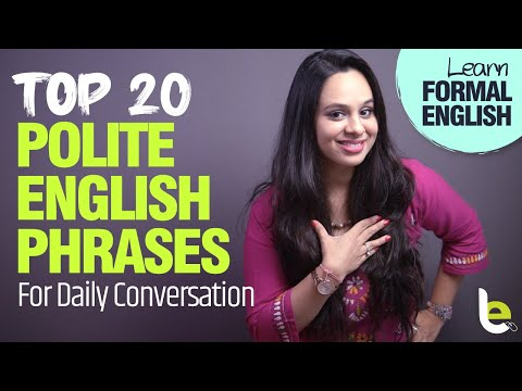How To Speak English Politely? 20 Polite English Phrases For Daily Conversation | Speaking Practice