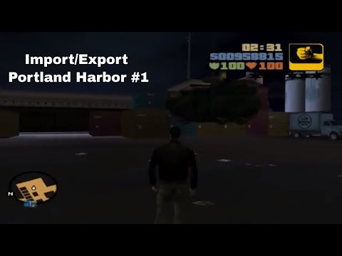 Grand theft auto: III (GTA Gameplay / Walkthrough) PlayOnLinux - Import/Export Portland Harbor #1