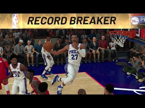 NBA 2K19 My Career EP 53 - Windmill Oop Assists Record!