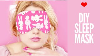 DIY Sleep Mask | With Free Pattern