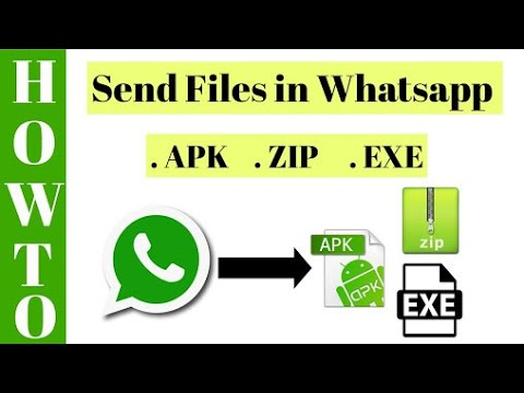 How to send  apk or zip file throw the whatsapp without root and without  any app