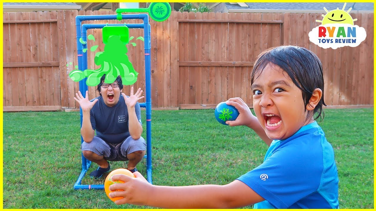 Splash Dunk Tank Challenge Family Fun Activities with Ryan ToysReview!!!