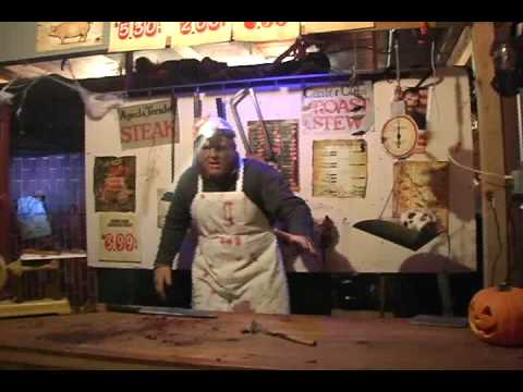 Our haunted butcher shop escape room halloween 2016 doovi for Haunted house scene ideas