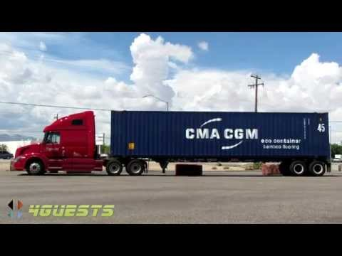 KNIGHT TRUCKING with CMA CGM SHIPPING CONTAINER