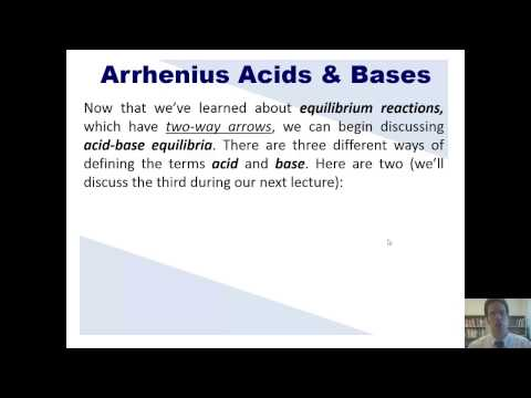 Chapter 16 – Acid-Base Equilibria: Part 1 of 18