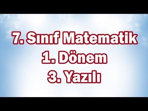 7. Sınıf Matematik 1. Dönem 3. Yazılı Sınavı | CANLI